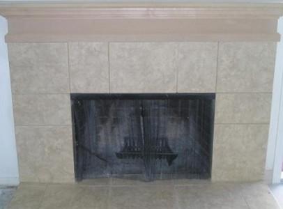 fireplace after renovation