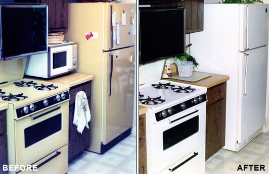 appliance refinishing before and after